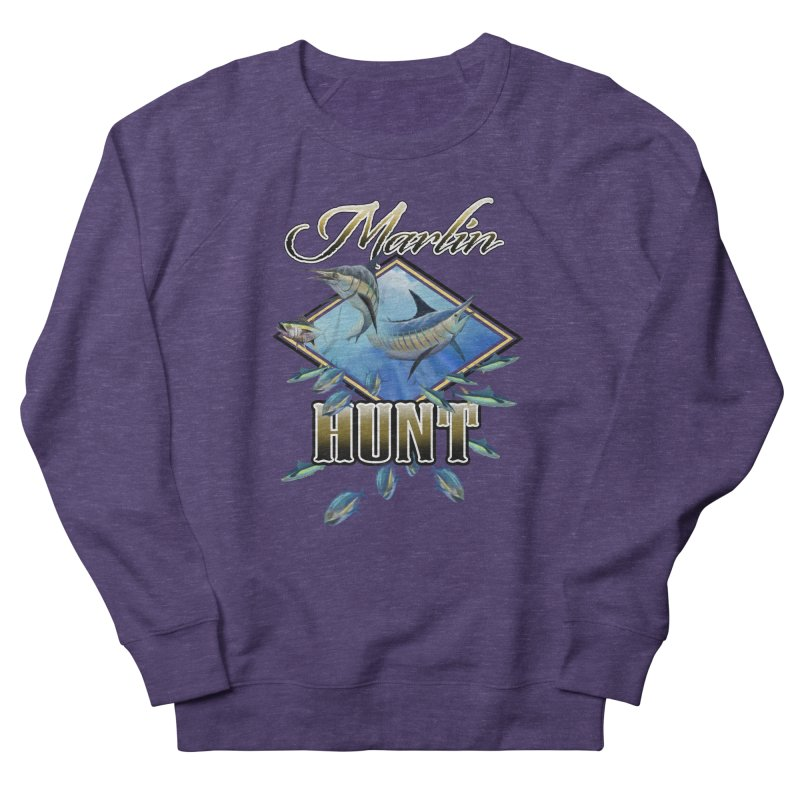 Marlin Hunt Men's French Terry Sweatshirt by psweetsdesign's Artist Shop