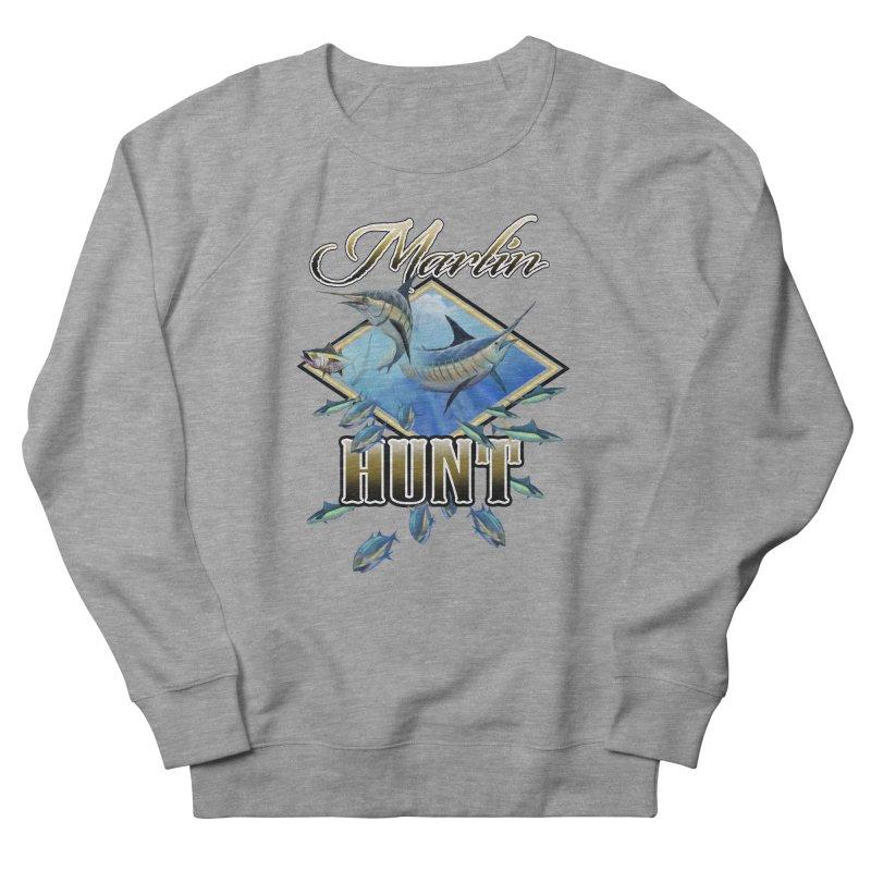 Marlin Hunt Men's French Terry Sweatshirt by psweetsdesign's Artist Shop
