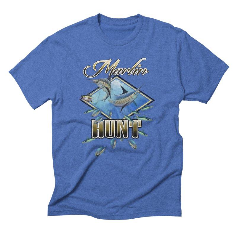 Marlin Hunt Men's Triblend T-Shirt by psweetsdesign's Artist Shop
