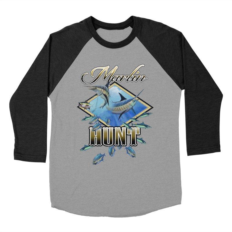 Marlin Hunt Women's Baseball Triblend T-Shirt by psweetsdesign's Artist Shop
