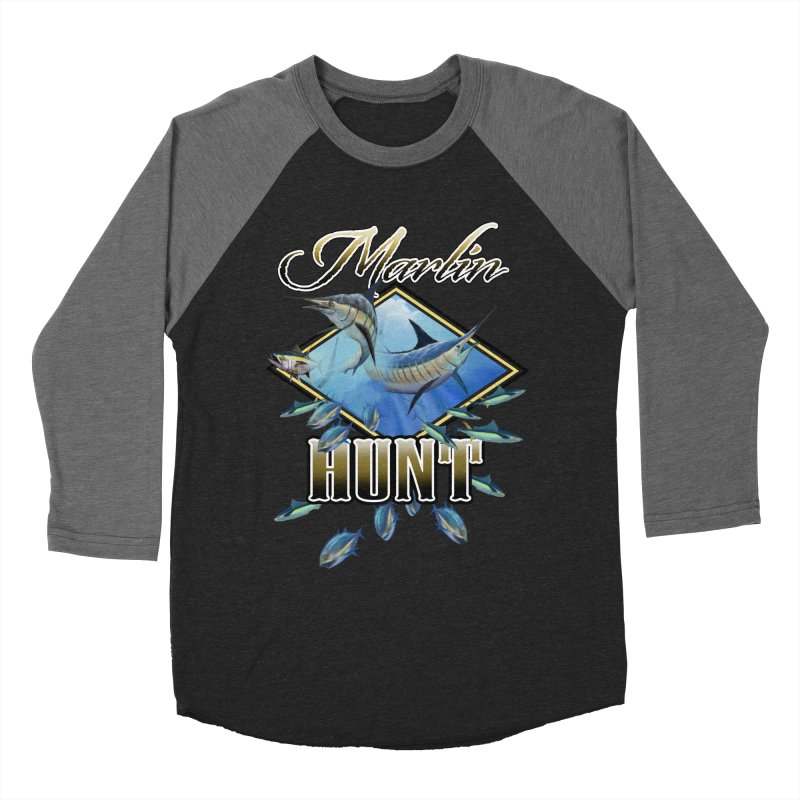 Marlin Hunt Men's Baseball Triblend T-Shirt by psweetsdesign's Artist Shop