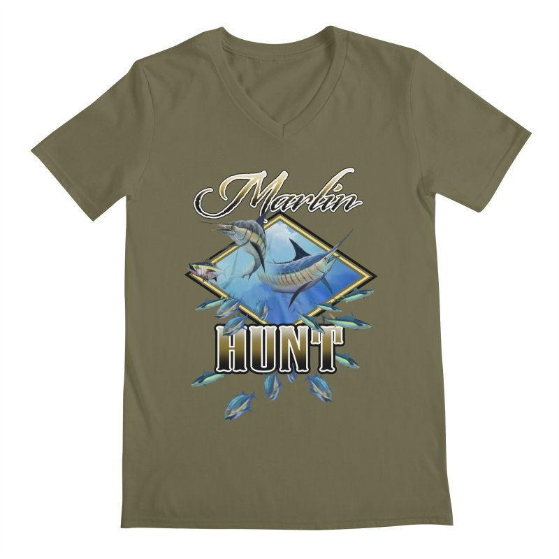Marlin Hunt Men's Regular V-Neck by psweetsdesign's Artist Shop
