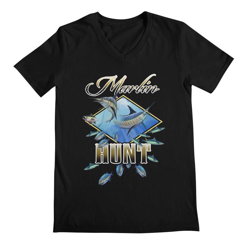 Marlin Hunt Men's Regular V-Neck by psweetsdesign's Artist Shop