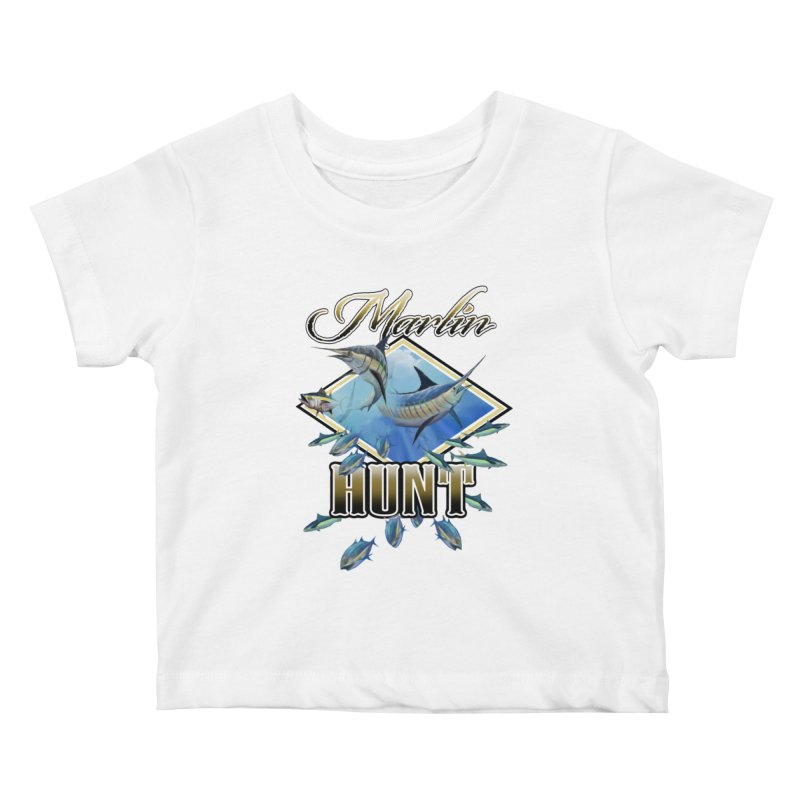 Marlin Hunt Kids Baby T-Shirt by psweetsdesign's Artist Shop