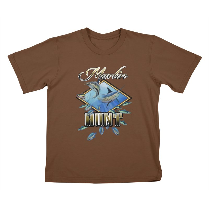 Marlin Hunt Kids T-Shirt by psweetsdesign's Artist Shop