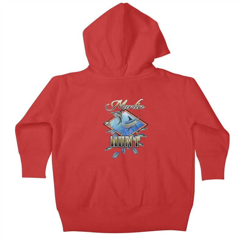 Marlin Hunt Kids Baby Zip-Up Hoody by psweetsdesign's Artist Shop