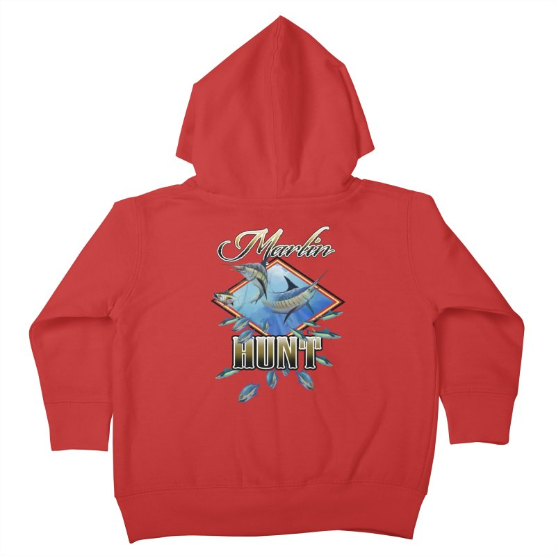 Marlin Hunt Kids Toddler Zip-Up Hoody by psweetsdesign's Artist Shop