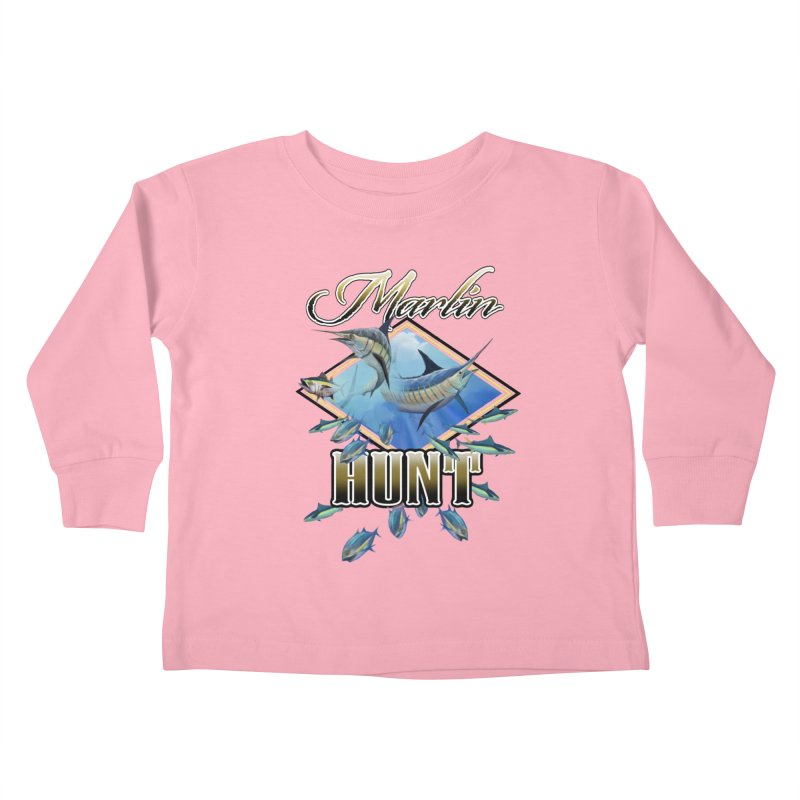 Marlin Hunt Kids Toddler Longsleeve T-Shirt by psweetsdesign's Artist Shop