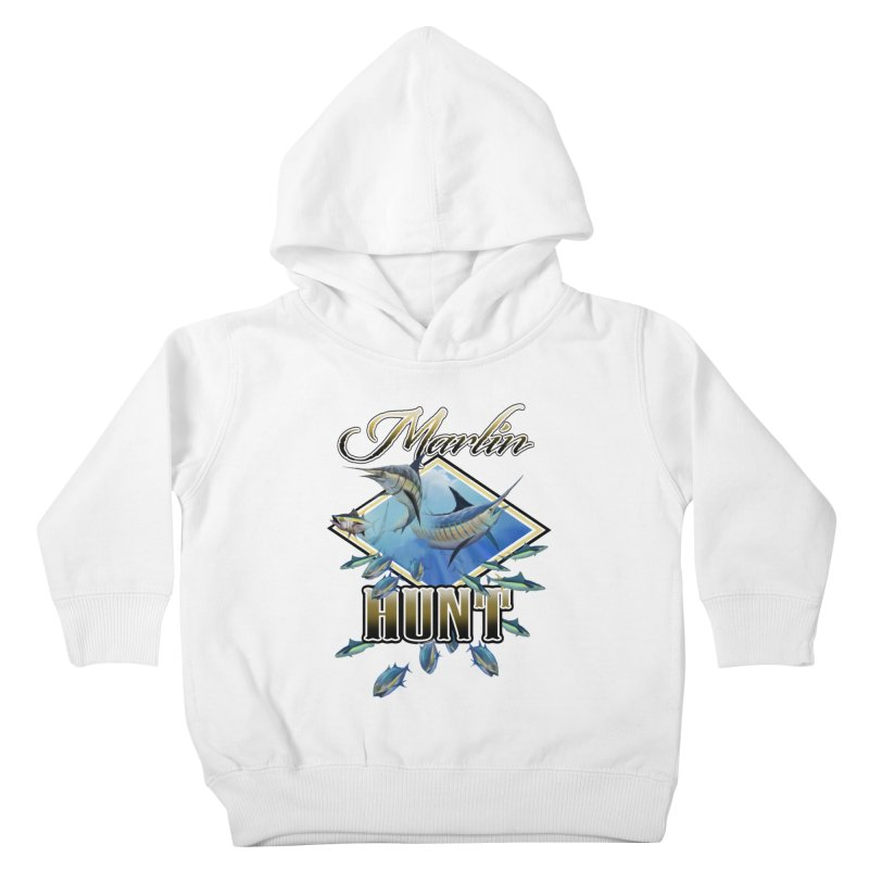 Marlin Hunt Kids Toddler Pullover Hoody by psweetsdesign's Artist Shop