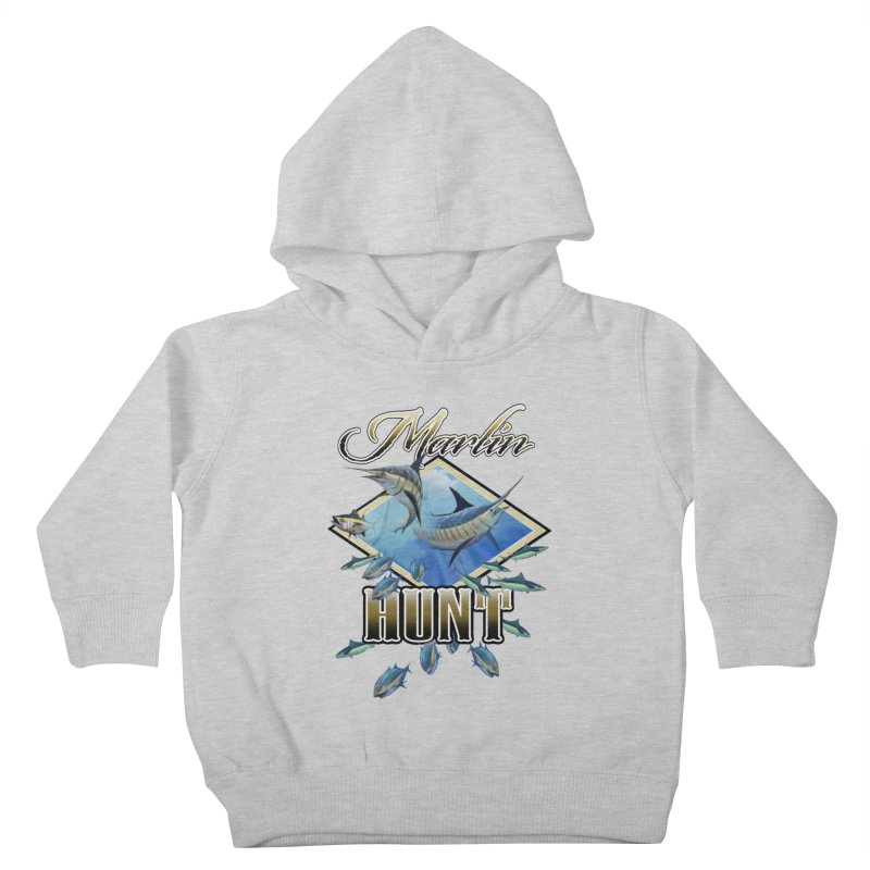 Marlin Hunt Kids Toddler Pullover Hoody by psweetsdesign's Artist Shop