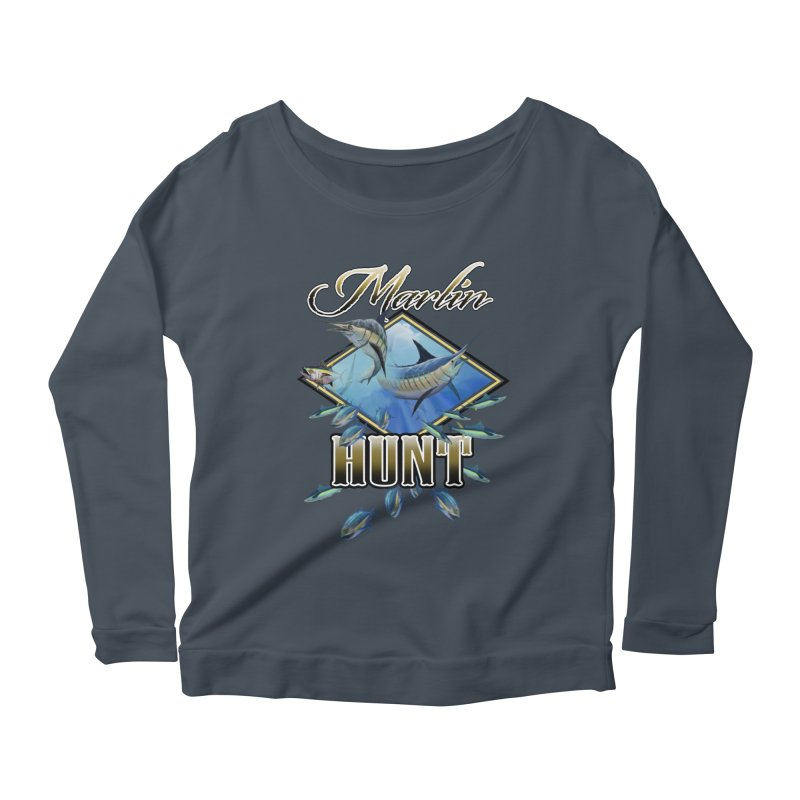 Marlin Hunt Women's Longsleeve Scoopneck  by psweetsdesign's Artist Shop