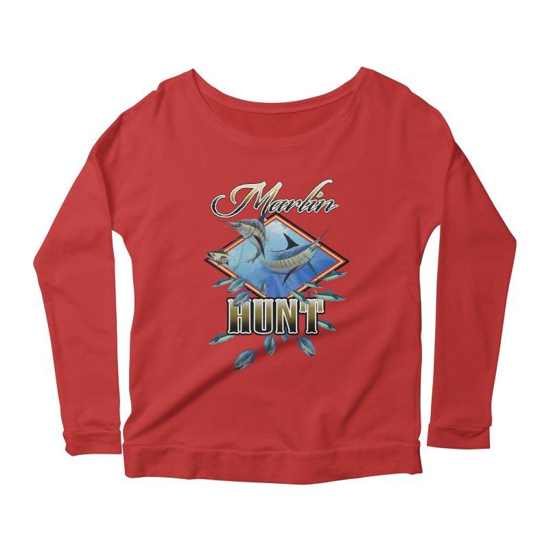 Marlin Hunt Women's Scoop Neck Longsleeve T-Shirt by psweetsdesign's Artist Shop