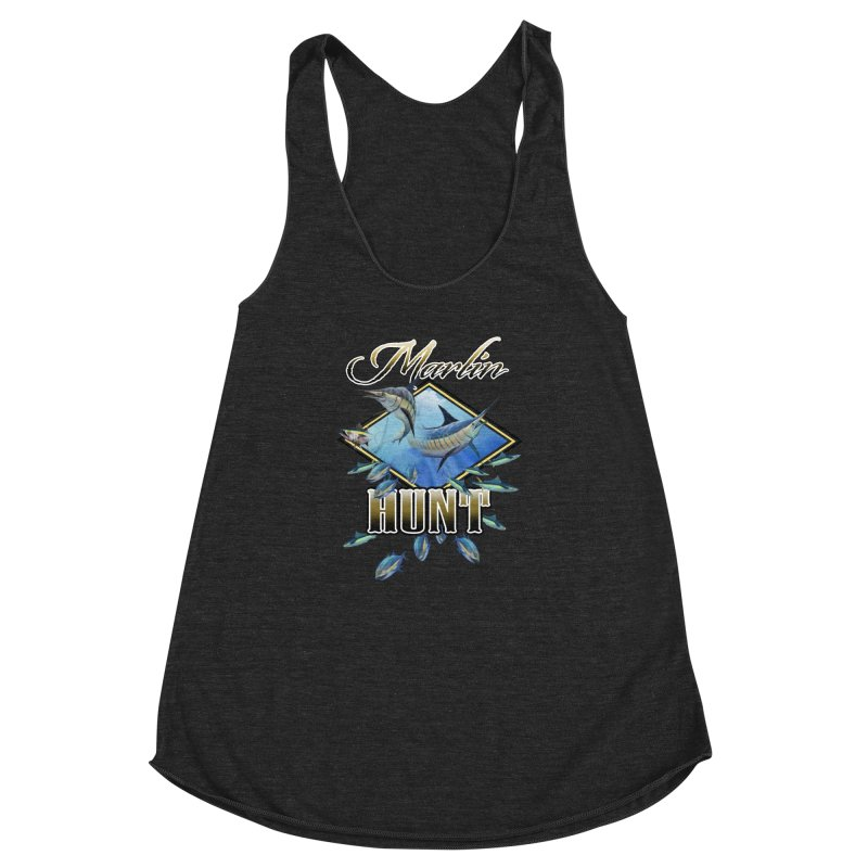 Marlin Hunt Women's Racerback Triblend Tank by psweetsdesign's Artist Shop