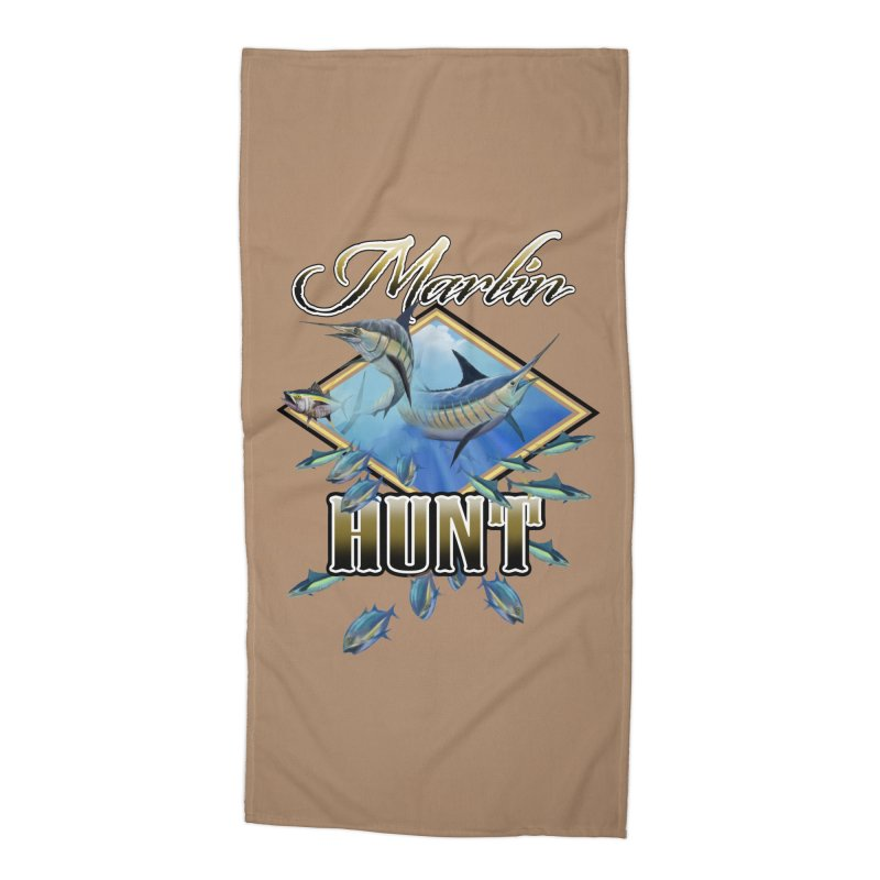 Marlin Hunt Accessories Beach Towel by psweetsdesign's Artist Shop