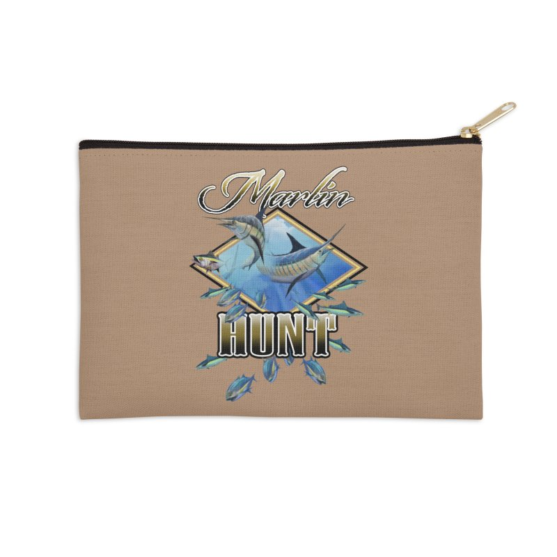 Marlin Hunt Accessories Zip Pouch by psweetsdesign's Artist Shop