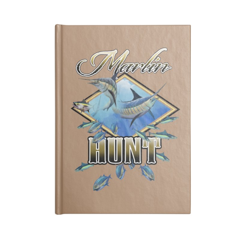 Marlin Hunt Accessories Blank Journal Notebook by psweetsdesign's Artist Shop