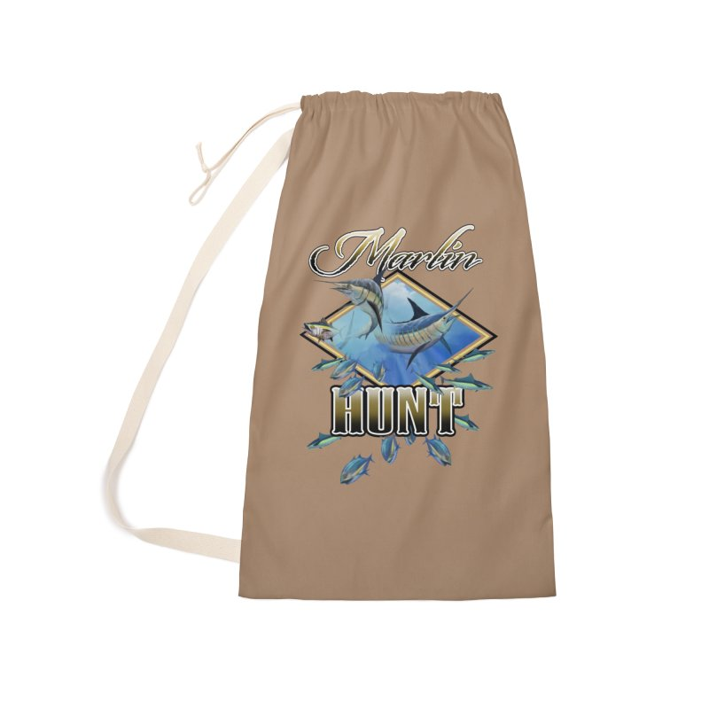 Marlin Hunt Accessories Laundry Bag Bag by psweetsdesign's Artist Shop