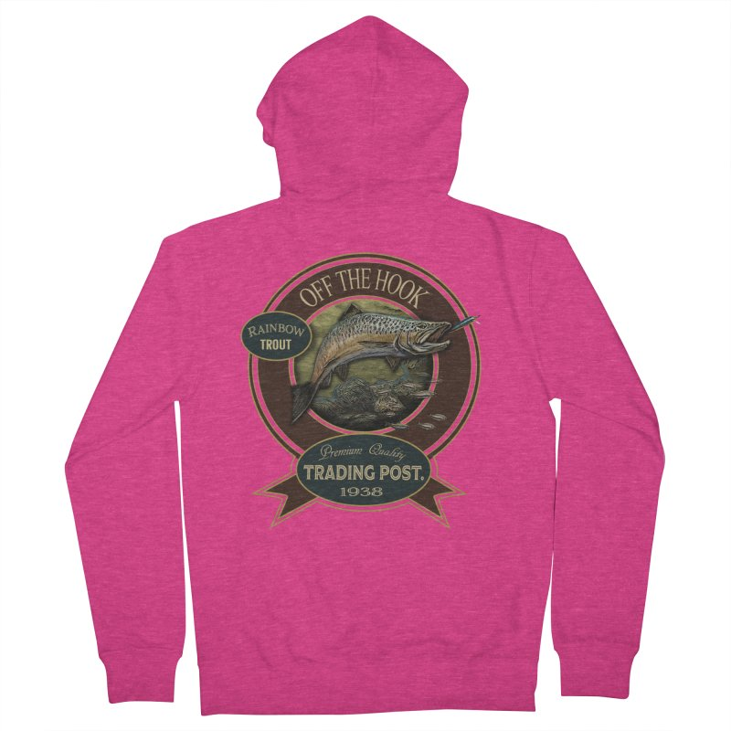 Off the hook Women's French Terry Zip-Up Hoody by psweetsdesign's Artist Shop