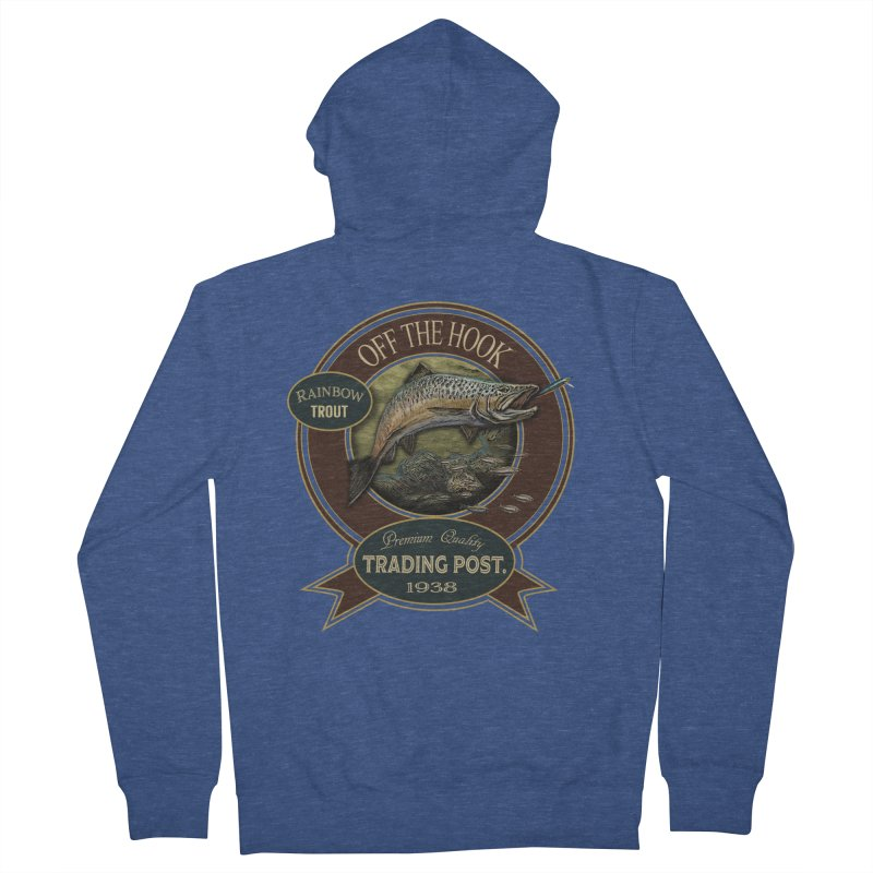 Off the hook Men's French Terry Zip-Up Hoody by psweetsdesign's Artist Shop