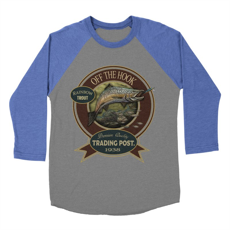Off the hook Women's Baseball Triblend T-Shirt by psweetsdesign's Artist Shop