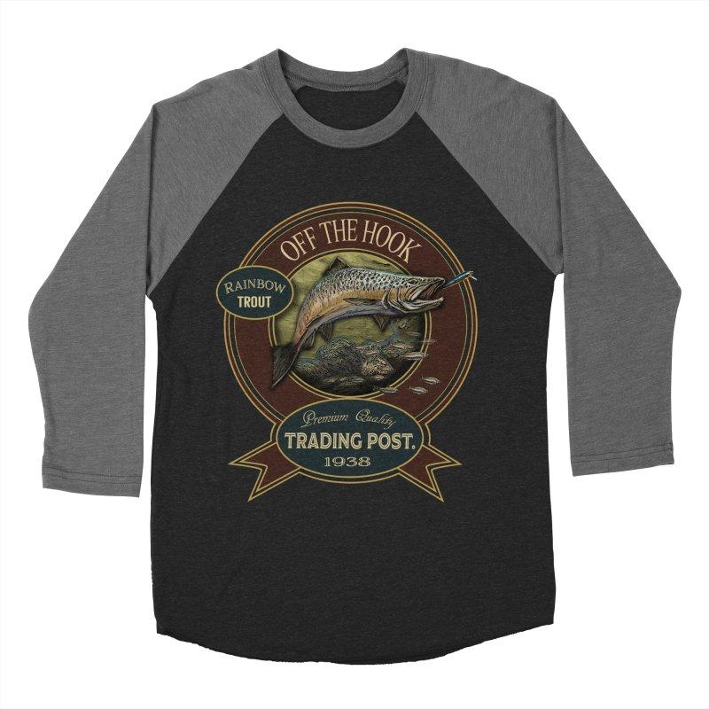 Off the hook Men's Baseball Triblend T-Shirt by psweetsdesign's Artist Shop