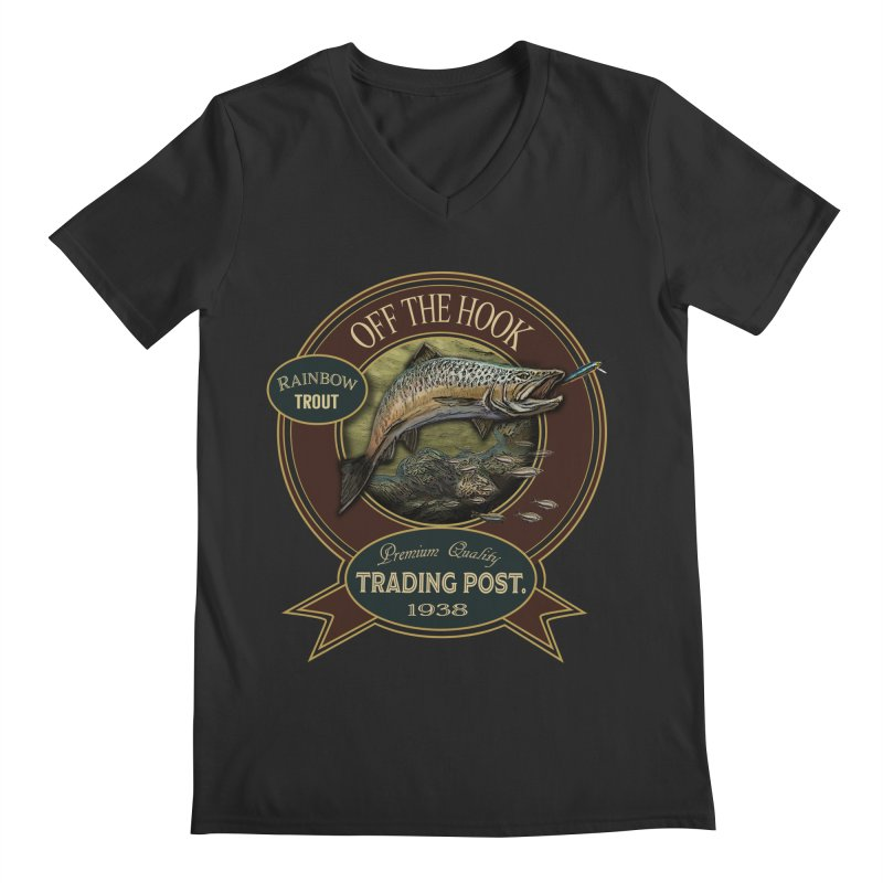 Off the hook Men's Regular V-Neck by psweetsdesign's Artist Shop