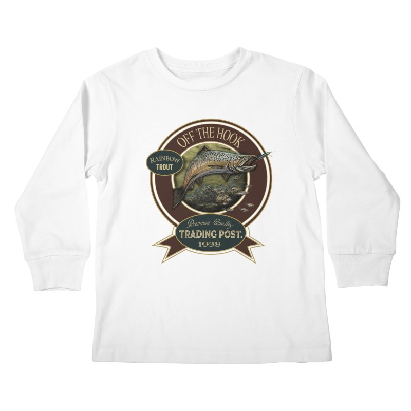 Off the hook Kids Longsleeve T-Shirt by psweetsdesign's Artist Shop