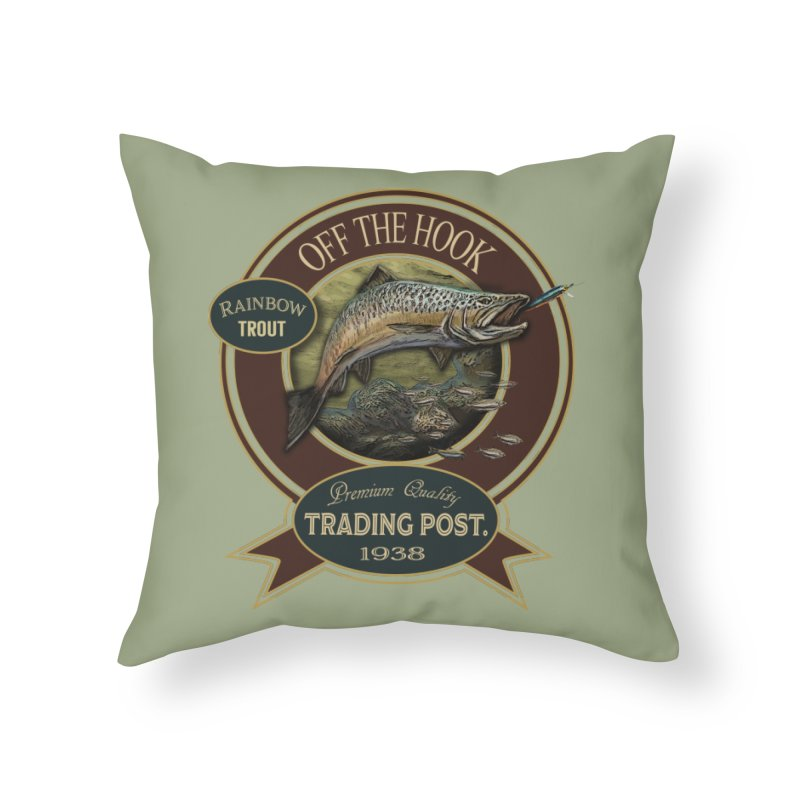 Off the hook Home Throw Pillow by psweetsdesign's Artist Shop