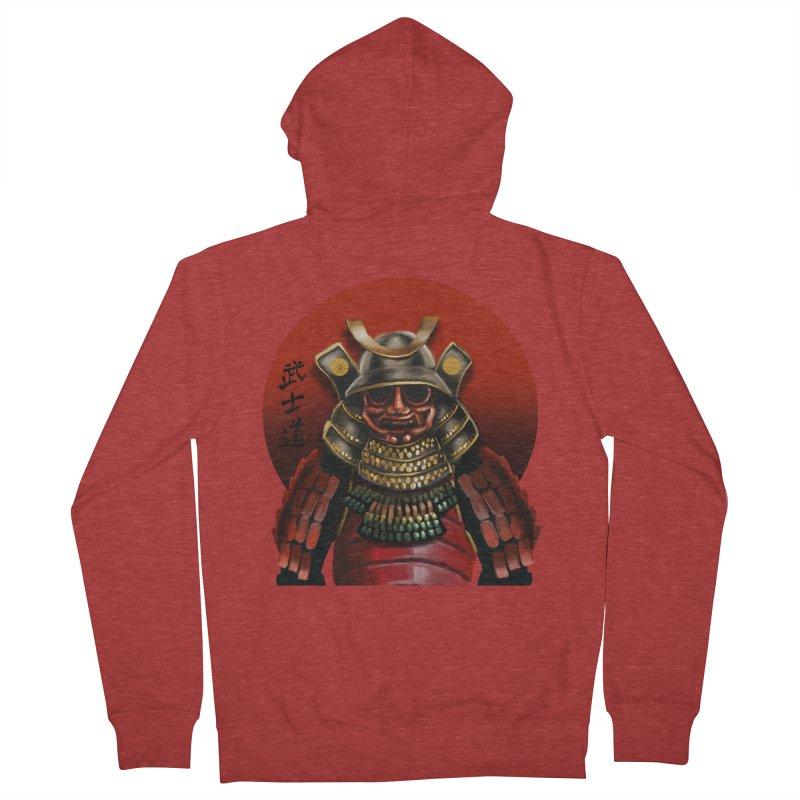 Way of the Warrior Men's French Terry Zip-Up Hoody by psweetsdesign's Artist Shop