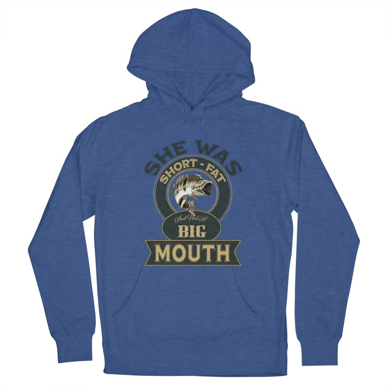 Big Mouth Bass Women's French Terry Pullover Hoody by psweetsdesign's Artist Shop
