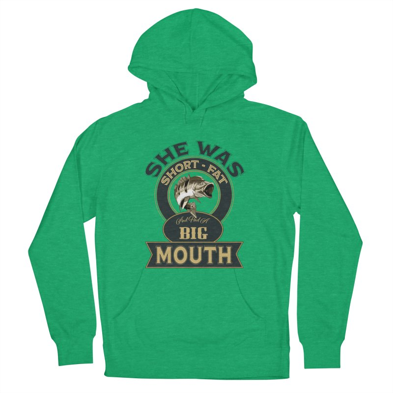 Big Mouth Bass Men's French Terry Pullover Hoody by psweetsdesign's Artist Shop