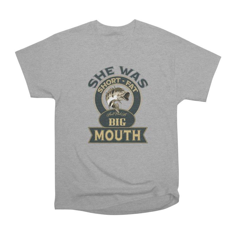 Big Mouth Bass Men's Heavyweight T-Shirt by psweetsdesign's Artist Shop