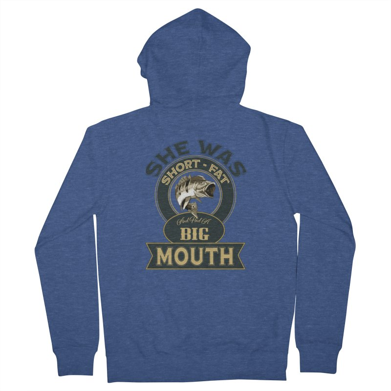 Big Mouth Bass Men's French Terry Zip-Up Hoody by psweetsdesign's Artist Shop