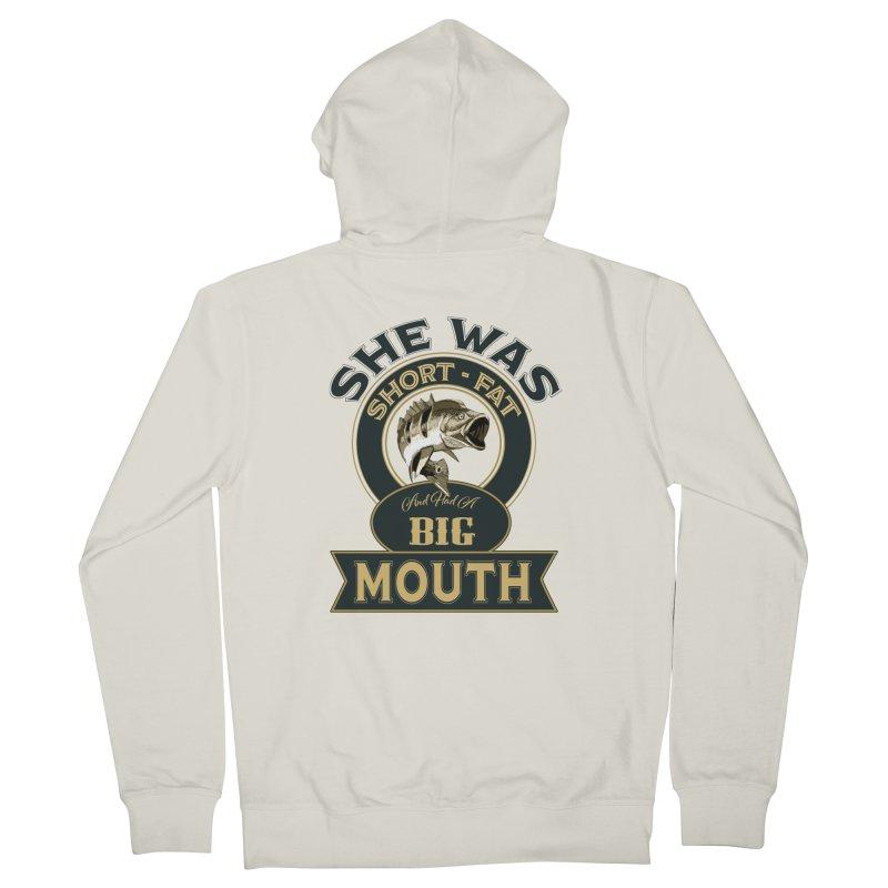 Big Mouth Bass Men's Zip-Up Hoody by psweetsdesign's Artist Shop