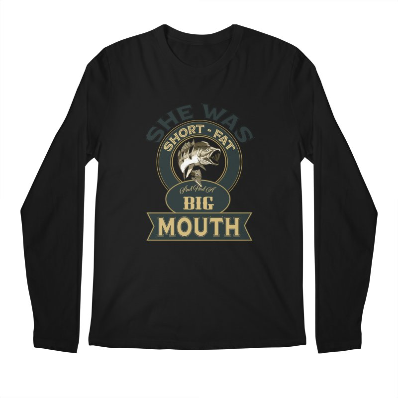 Big Mouth Bass Men's Regular Longsleeve T-Shirt by psweetsdesign's Artist Shop