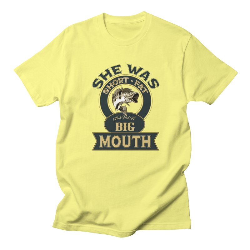 Big Mouth Bass Women's Regular Unisex T-Shirt by psweetsdesign's Artist Shop