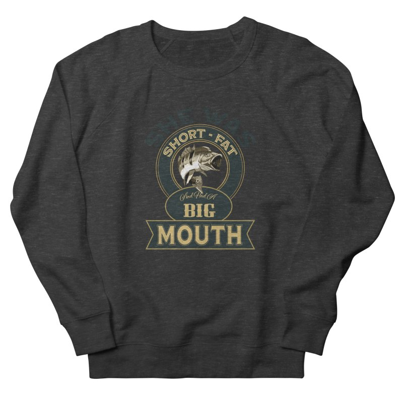 Big Mouth Bass Women's French Terry Sweatshirt by psweetsdesign's Artist Shop
