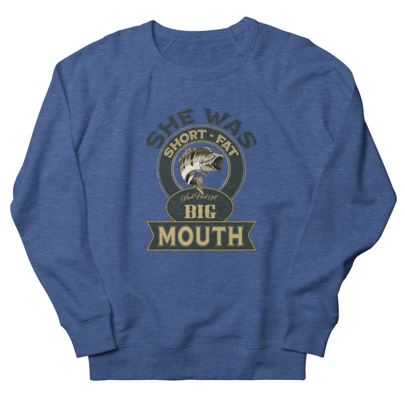 Big Mouth Bass Men's French Terry Sweatshirt by psweetsdesign's Artist Shop