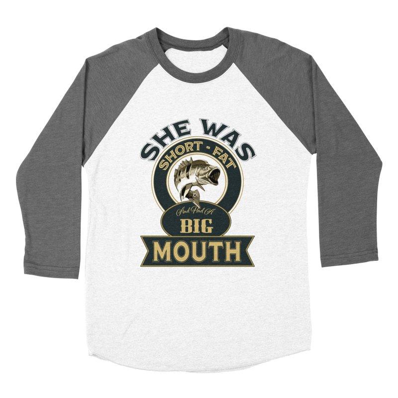 Big Mouth Bass Women's Baseball Triblend Longsleeve T-Shirt by psweetsdesign's Artist Shop