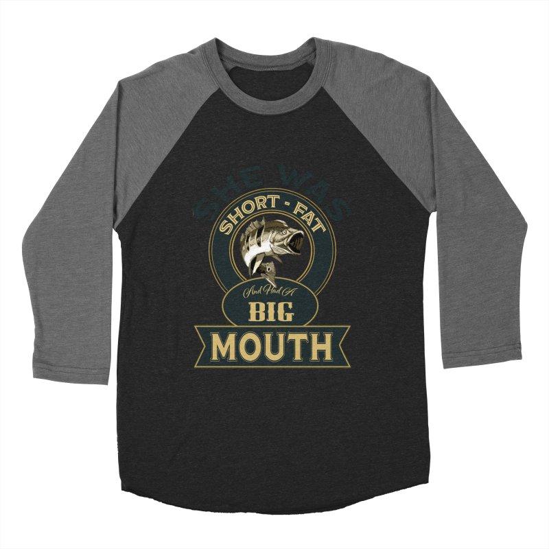 Big Mouth Bass Women's Baseball Triblend T-Shirt by psweetsdesign's Artist Shop