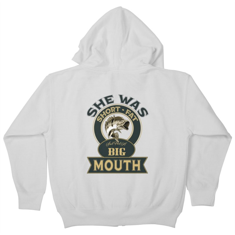 Big Mouth Bass Kids Zip-Up Hoody by psweetsdesign's Artist Shop