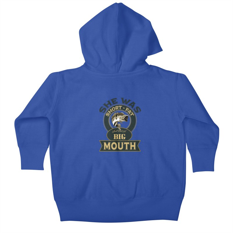 Big Mouth Bass Kids Baby Zip-Up Hoody by psweetsdesign's Artist Shop