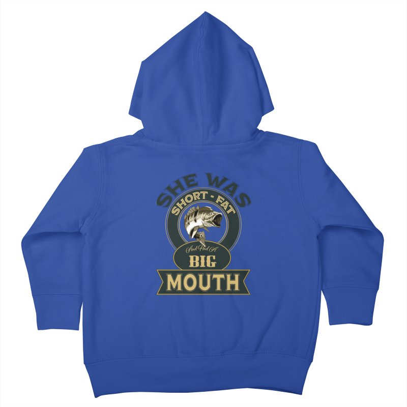 Big Mouth Bass Kids Toddler Zip-Up Hoody by psweetsdesign's Artist Shop