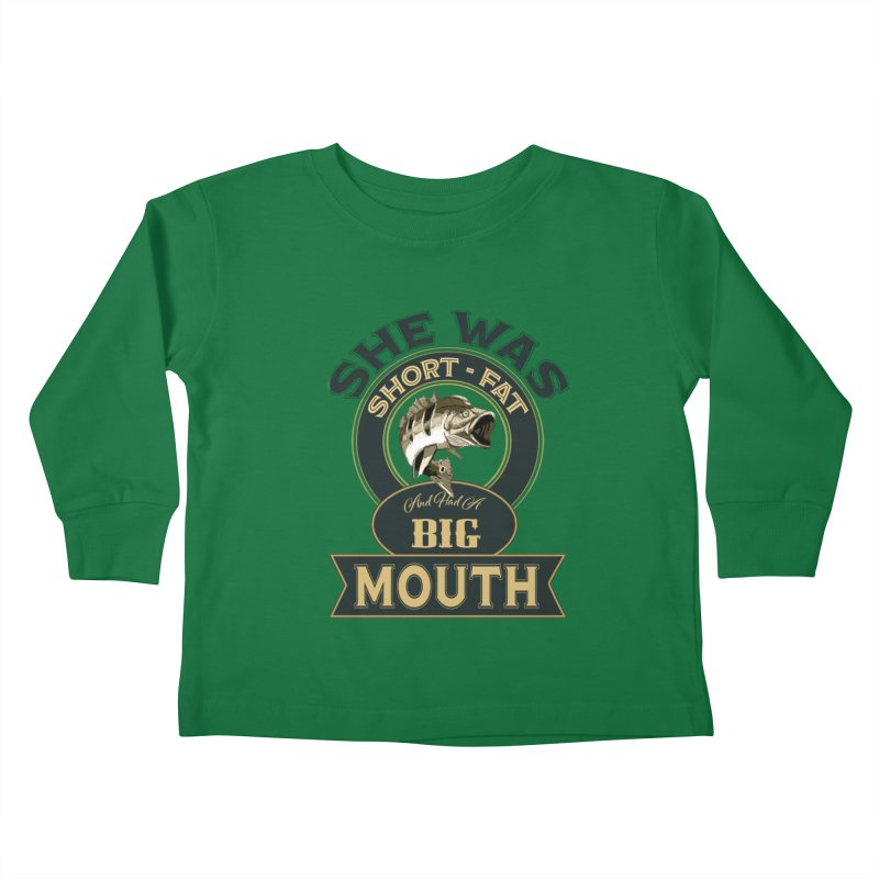 Big Mouth Bass Kids Toddler Longsleeve T-Shirt by psweetsdesign's Artist Shop