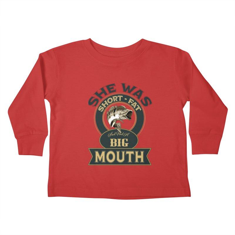 Big Mouth Bass Kids Toddler Longsleeve T-Shirt by psweetsdesign's Artist Shop