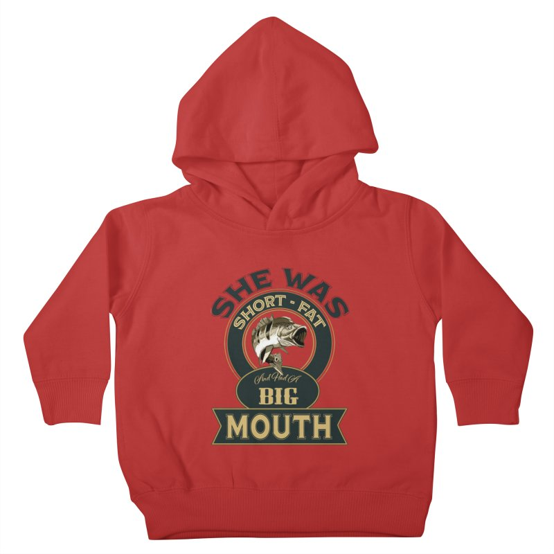 Big Mouth Bass Kids Toddler Pullover Hoody by psweetsdesign's Artist Shop