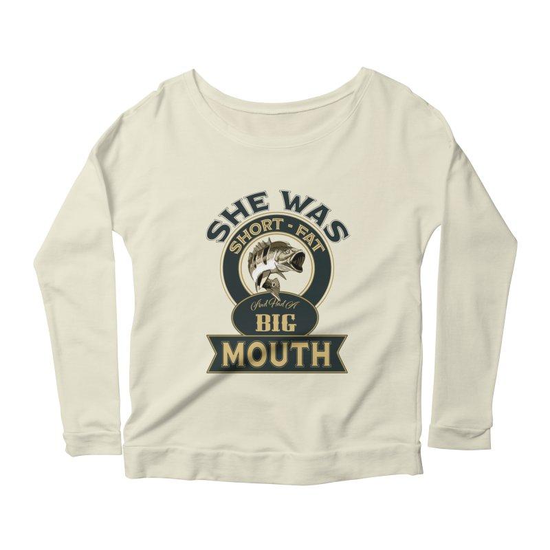 Big Mouth Bass Women's Scoop Neck Longsleeve T-Shirt by psweetsdesign's Artist Shop