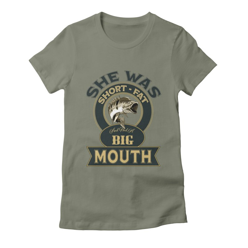 Big Mouth Bass Women's Fitted T-Shirt by psweetsdesign's Artist Shop