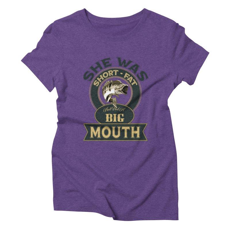 Big Mouth Bass Women's Triblend T-Shirt by psweetsdesign's Artist Shop
