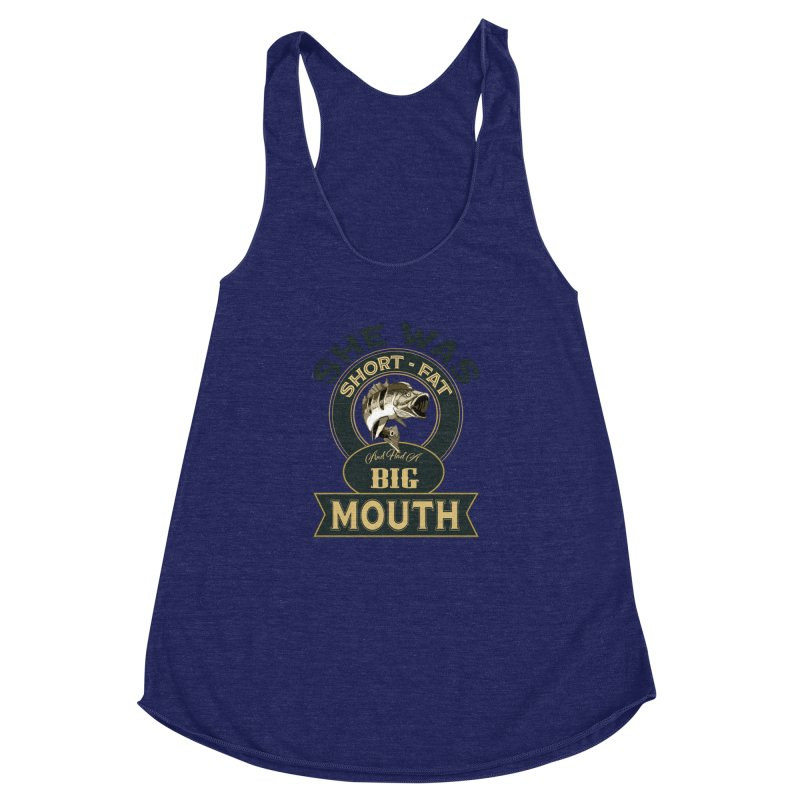 Big Mouth Bass Women's Racerback Triblend Tank by psweetsdesign's Artist Shop